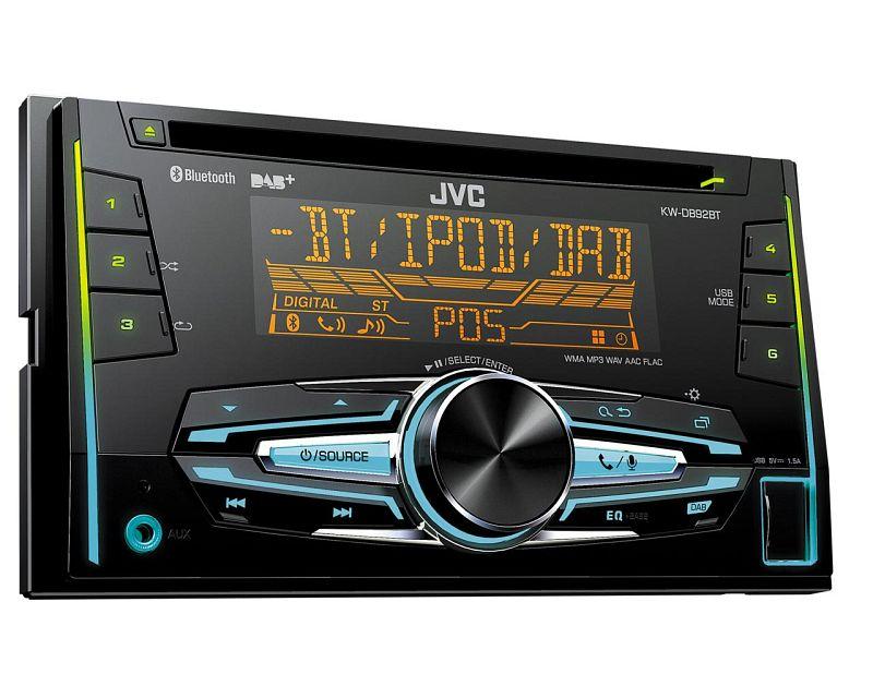 JVC DAB Radio 2DIN mit Antenne für Subaru Impreza G3 G3S 09//2007-2012 schwarz