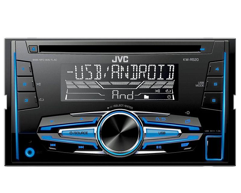 JVC Radio 2 DIN USB AUX für Dacia Logan MCV SD ab 07/2013 schwarz