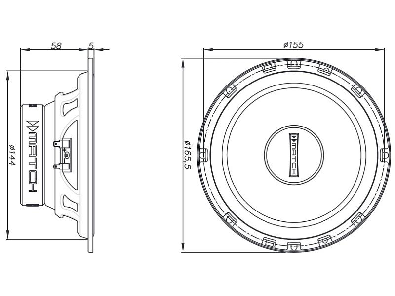 Helix-Lautsprecher-MS62C-300W-Kompo-16-5-cm-fuer-Alfa-Romeo-166-alle