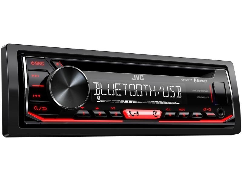 R52 JVC KD-R891BT 1DIN Radio Bluetooth Spotify mit Einbauset f/ür Mini Cabrio 2003-2008