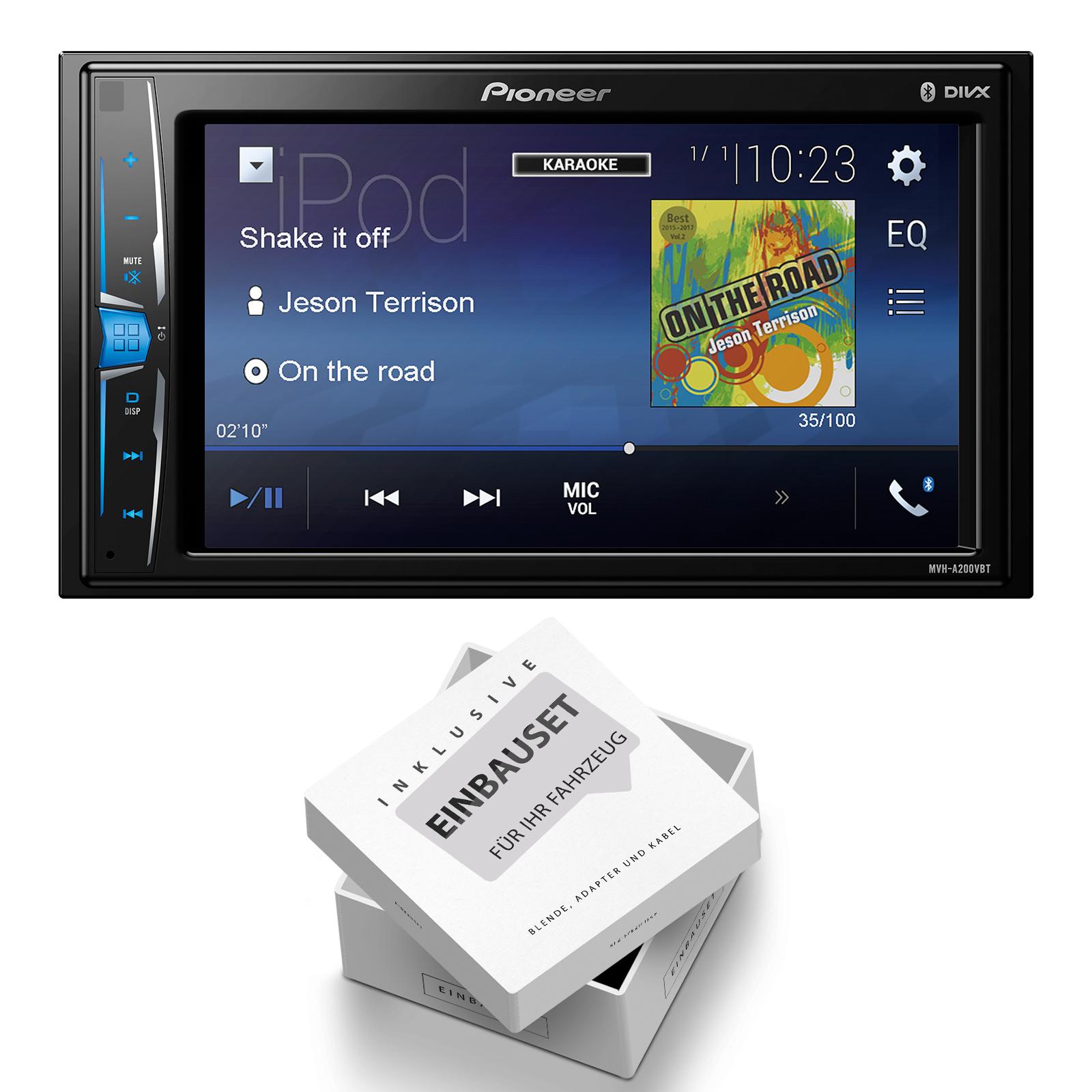 Pioneer Mvh A200vbt Radio Multimedia Bluetooth Für Honda Jazz Gg
