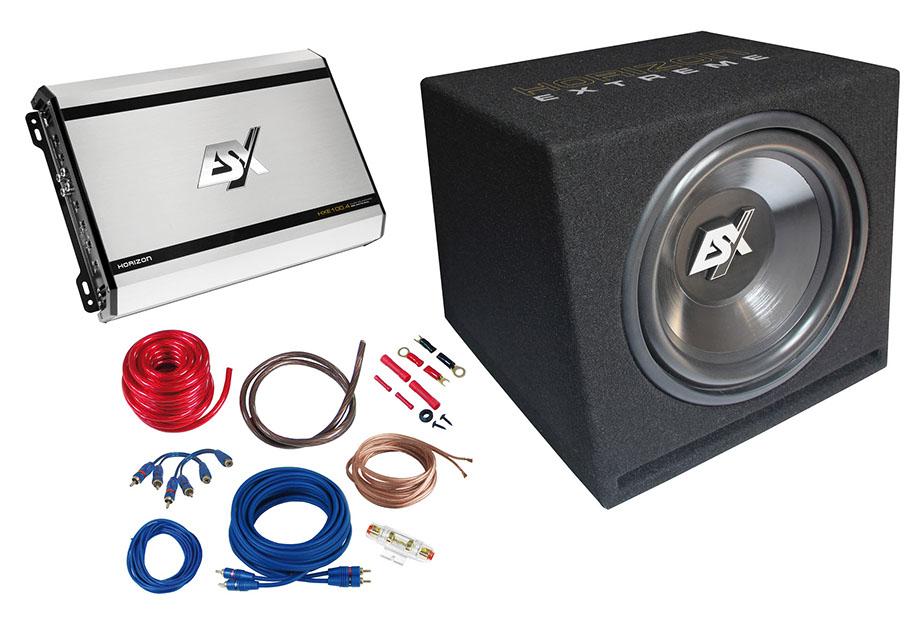 eho2003 carhifi onlineshop esx hxp4 bass kit bass paket. Black Bedroom Furniture Sets. Home Design Ideas